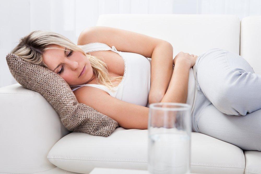 9. Боли в кишечнике из-за развития кисты